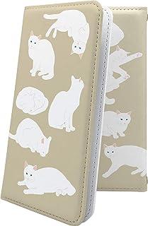 LG G2 mini LG-D620J ケース 手帳型 しろねこ 白猫 ねこ 猫 猫柄 にゃー エルジー ミニ ビッグローブ ビグローブ ジー2 ケース 手帳型ケース 女の子 女子 女性 レディース G2mini ケース キャラクター キャラ ...