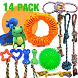 LEGEND SANDY Dog Chew Toys for Puppies Teething, Super Value 14 Pack...