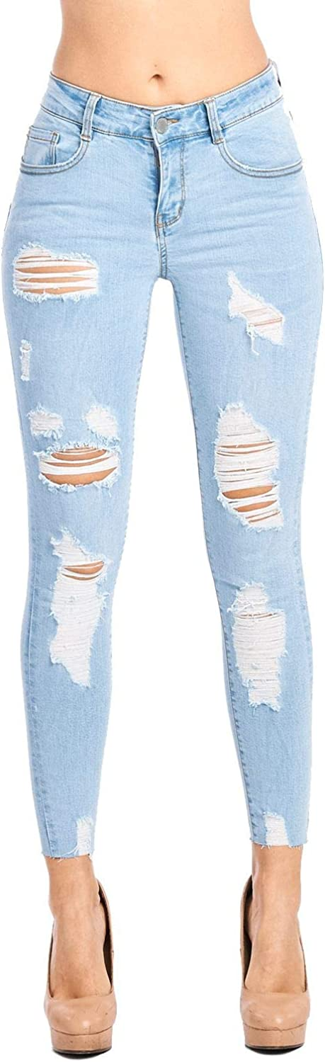 bluee Age Women Multistyle Destroyed Ripped Skinny Jeans