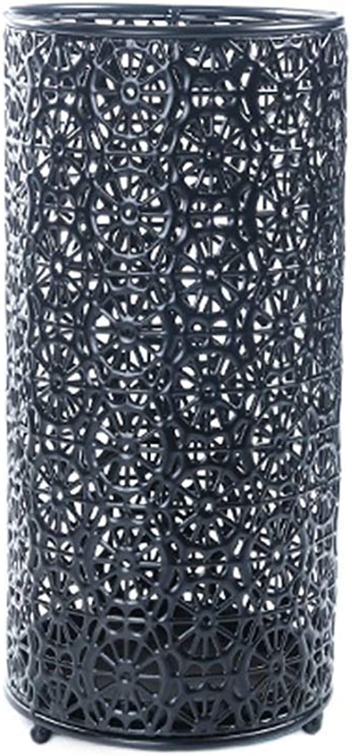 Umbrella Stand Black Home Office, Tubular Metal Perforated, Suitable for Indoor, Outdoor, Hallway, Car
