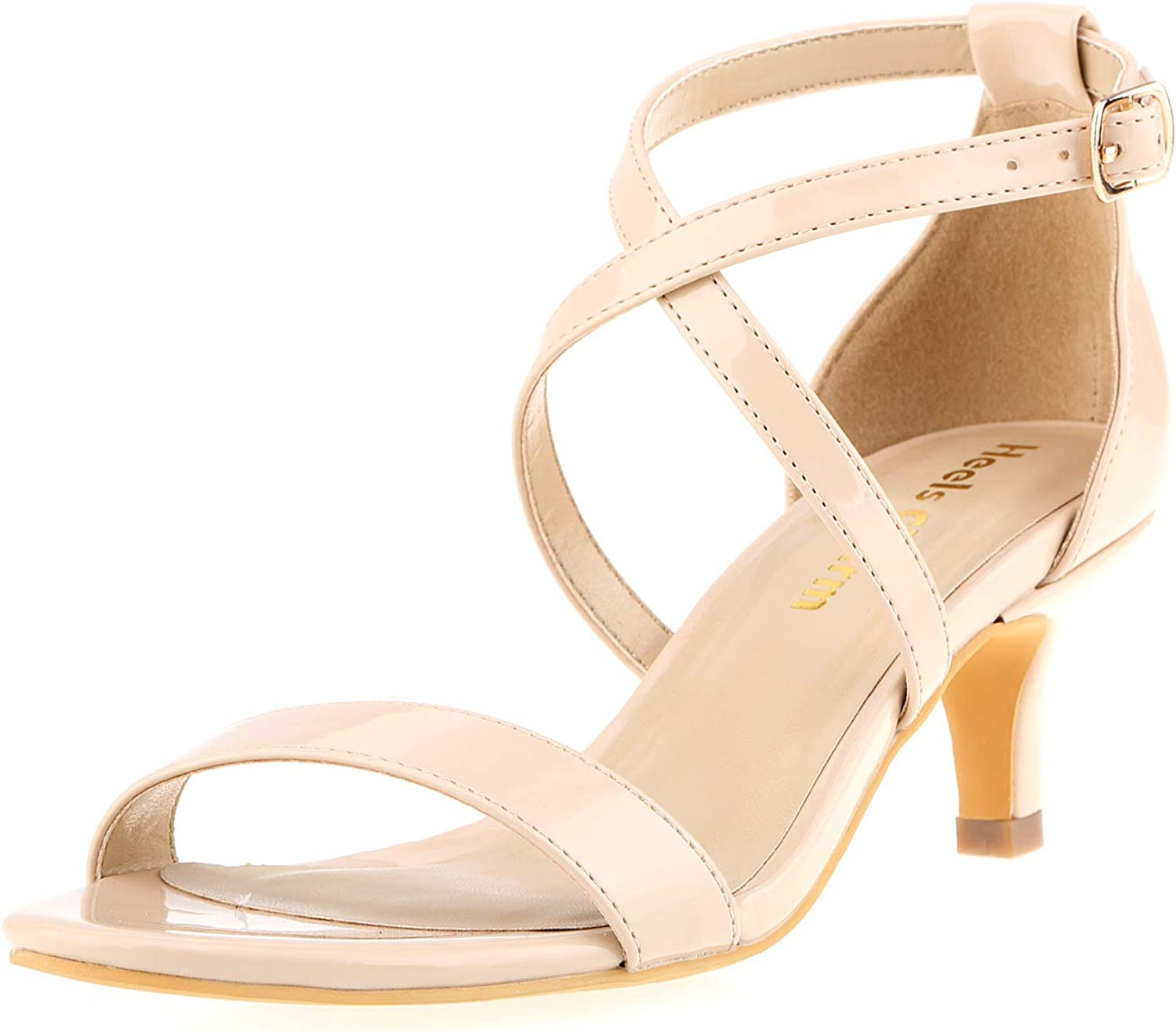 Heels Charm Women's Easy-to-use Stiletto Strappy Toe Max 72% OFF Open Cross