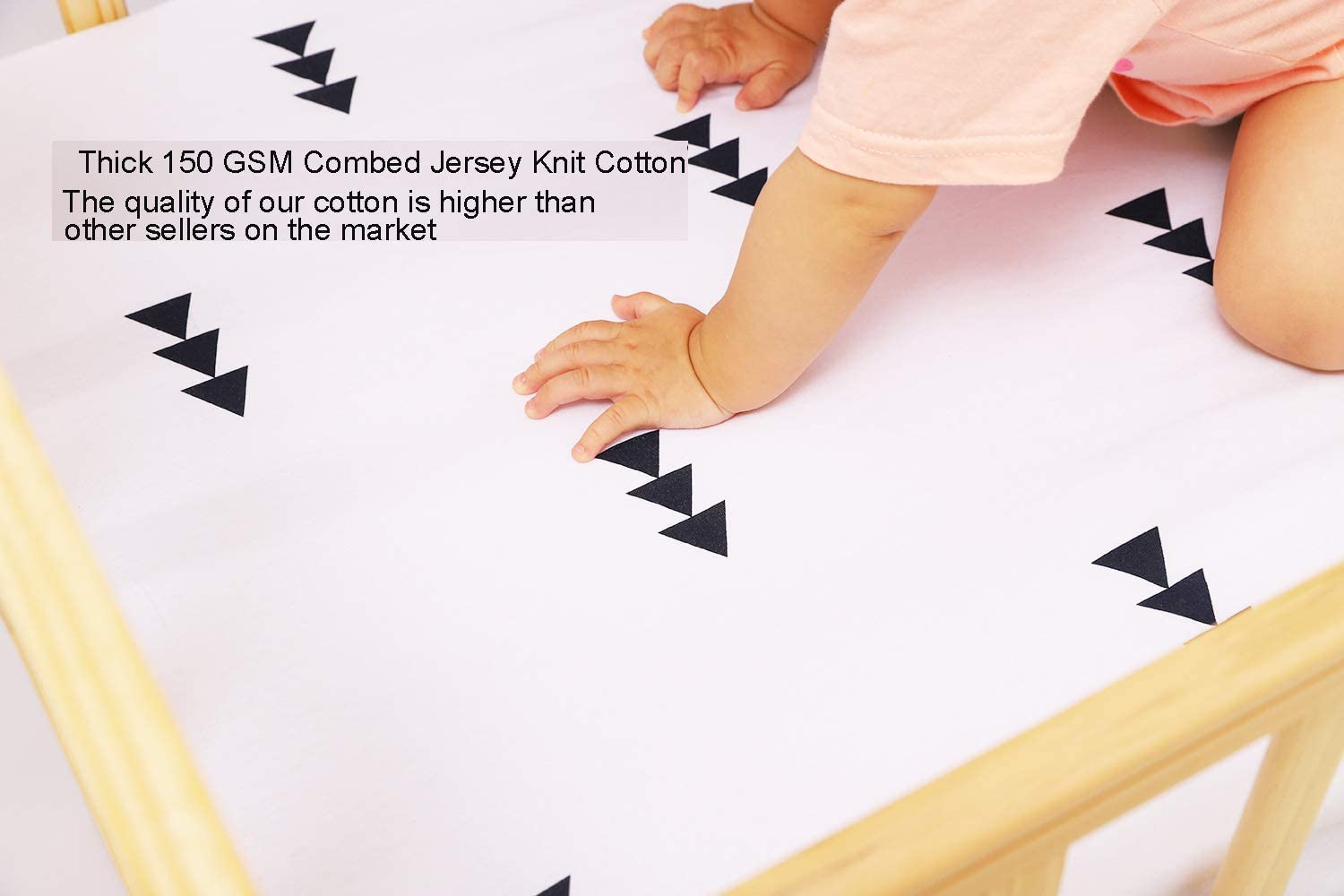 Bassinet Sheet Set 2 Pack 100/% Jersey Knit Cotton Ultra Soft and Stretchy for Baby Girl Boy Grey Arrows and Black Triangles by Knlpruhk