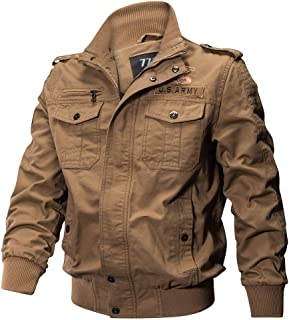 Mens Jacket Coat Military Clothing Outerwear Cotton Breathable Light