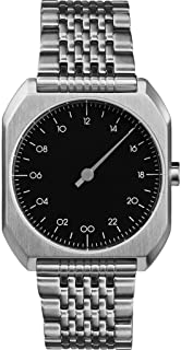 slow Mo 02 - Swiss Made one-hand 24 hour watch - Silver steel
