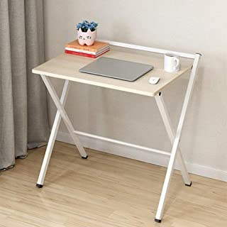 High quality Tables Folding Furniture Computer Desk Home Office Laptop Desktop with White Desktop White Steel Frame (Color...