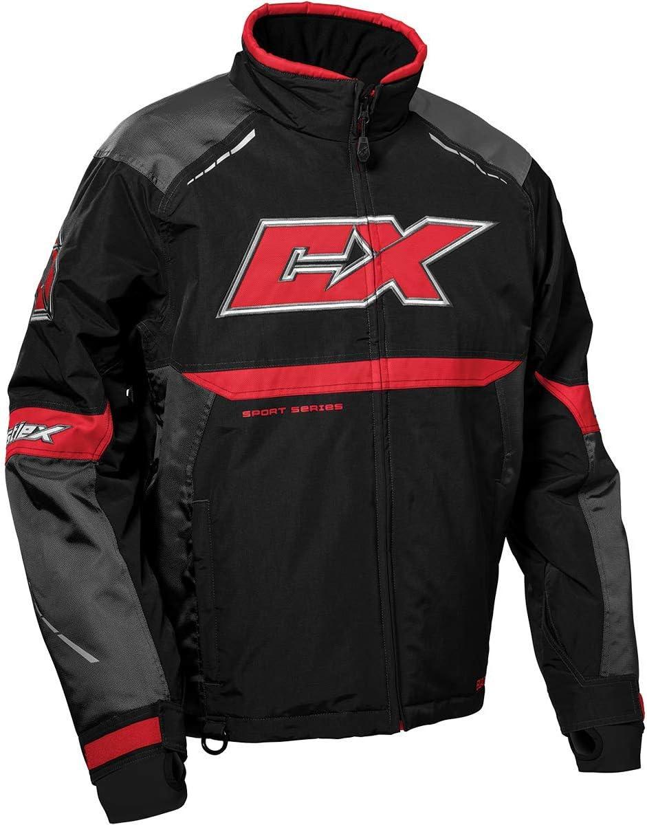 CastleX Men's Blade Jacket in Charcoal/Black/Red, Size Medium