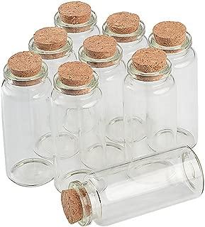 TAI DIAN Empty Mini Bottle with Cork Stopper 30ml Jars idea for Wedding Small Wishing Bottles Wholesale 50pcs (50, 30ml-30x70x17mm)