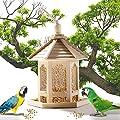 BURFLY Bird Feeders, Wooden Feeding Station, Hanging Lantern Wild Bird Seed Feeder, Squirrel Guard, Bird House, Novelty Park, Pavilions for Garden Yard from BURFLY_Home & Kitchen