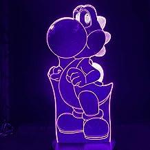 Super Mario World 3D-nachtlampje, dinosaurus, dier, led-nachtlampje, tieners, cartoon, 3D-lampspel, decoratief