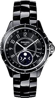 J12 Black Ceramic Moonphase Unisex Watch H3405