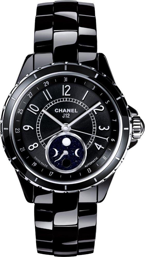 Chanel J12 Black Ceramic Moonphase Unisex Watch H3405