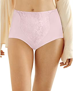a1cb2615b3 Bali Women s Shapewear Double Support Coordinate Brief with Lace Tummy  Panel Light Control 2-Pack