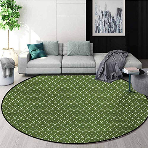 Great Features Of RUGSMAT Green Rug Round Home Decor Area Rugs,Vivid Forest Natural Colored Geometri...
