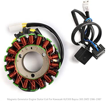 Magneto Generator Stator Coil for 87 Kawasaki 2WD Bayou 300 KLF300A 21003-1128 B