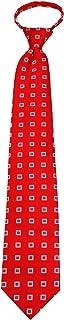 Sponsored Ad - ZIP-12393 - Mens Red Pattern Designer Zipper Zip Up Necktie Ties