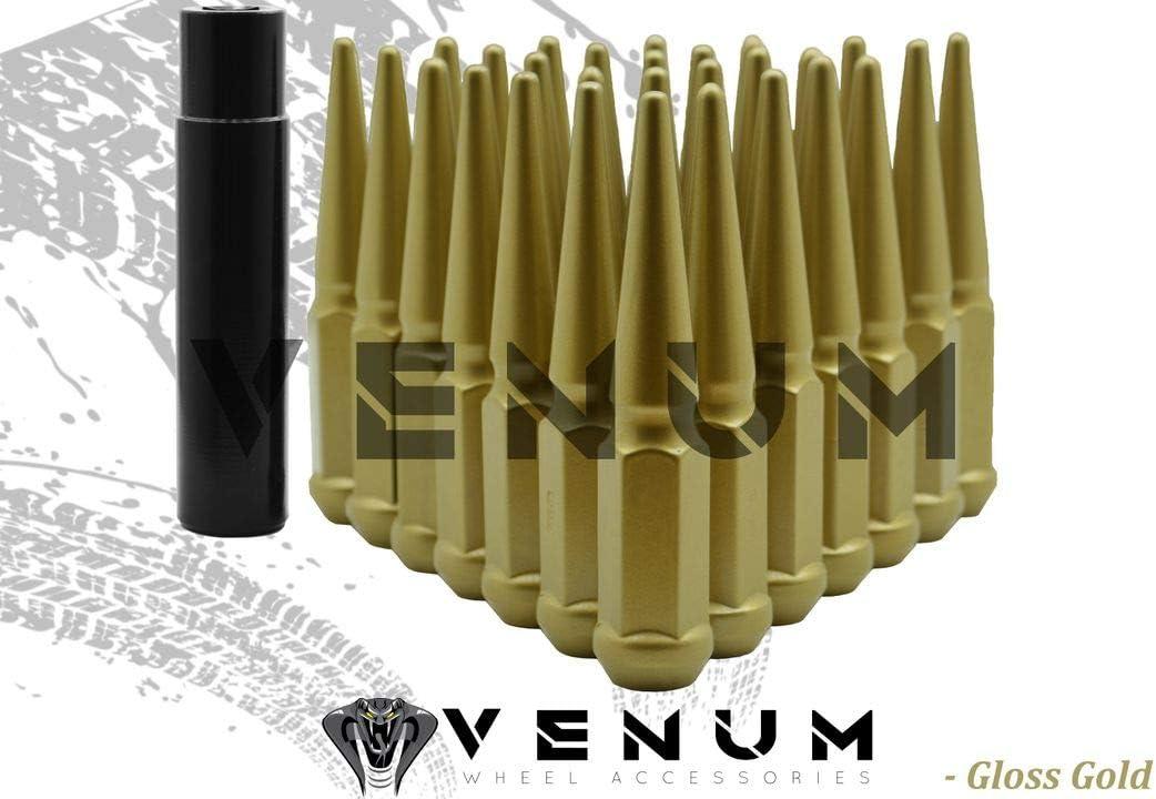 Venum Cheap wheel accessories 32 Pc Gold Spike Lug Coated Max 48% OFF Powder Nuts