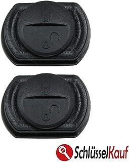 2 Stück Tastenfeld Autoschlüssel Gummipad Ersatz Ersattaster Rubberpad Gummi Keypad 2 Tasten NEU