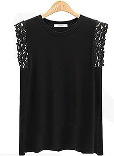 Ivan Johns Fashion Women Tank Tops Sexy Hollow Out Lace Decoration Black White Grey Top Plus Size 4XL T-Shirt Tees