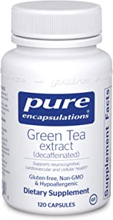 Pure Encapsulations - Green Tea Extract (Decaffeinated) - Hypoallergenic Antioxidant Support for All Cells in The Body* - ...