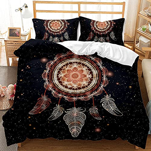 Bedclothes-Blanket duvet cover single bed,3D digital printing quilt set three-piece catching dream mesh-5_240*220cm