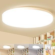 LEOEU Led-plafondlamp, warmwit/neutraal wit/koudwit, 24 W, 2400 lumen, waterbestendig, IP54 led-plafondlamp voor badkamer,...