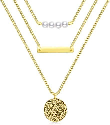 popular Gold Layered high quality online Necklaces for Women Multilayer Necklace 3 Tier Pendant Long Chain Women Accessories online sale