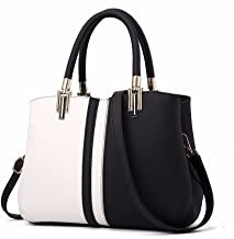 Women Bags Handbag Shoulder Bags PU Leather Fashion Crossbody Purse, Black