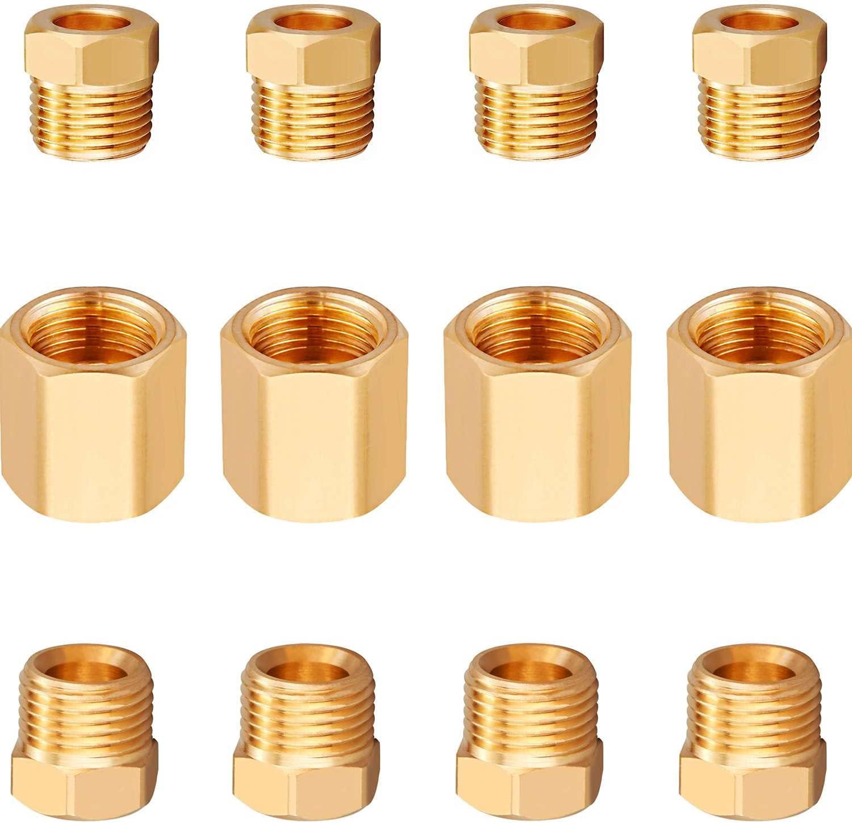 Minimprover 12 5 ☆ very High order popular PCS Brass Inverted 4 Brake Assortment Line Flare