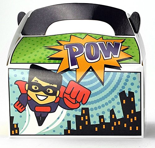 Buy Cheap Ifavor123 Superhero Party Favor Treat Boxes for Kids Birthday - 24 Pack