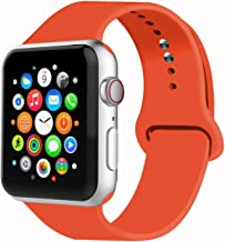 IYOU Sport Band Compatible with Watch Band 38MM 42MM 40MM 44MM, Soft Silicone Replacement Sport Strap Compatible with 2018 Watch Series 5/4/3/2/1