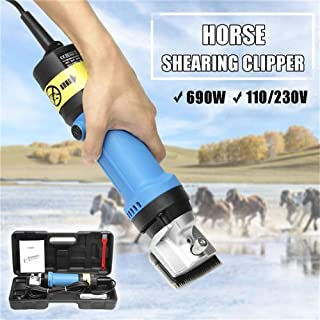 Professional Electric Horse Shears Horse Hair Clippers,690W & 6 Speed Adjustable, for Shaving Fur in Donkey Alpacas,Llamas...
