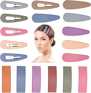 Snap Hair Clips Matte Hair Barrettes Bangs Hair Clips 18PCS Assorted Candy Colors Barrettes Hairpins Headwear Hair Accesso...