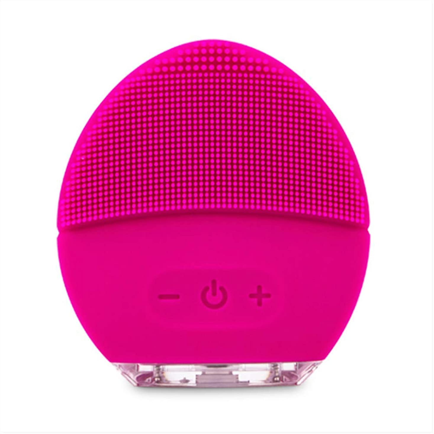 YANGDIレッド新シリコーンクレンジングインストゥルメント電気洗浄器具超音波美容楽器フェイスポアクリーナー