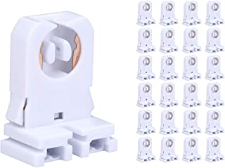 G13 Socket Tombstone Lamp Holder T8 Bi-pin Non-shunted Turn Type UL for LED Fluorescent Tube Replacement(NO Wire) 24 Pack