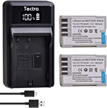 Tectra 2 Pack BLM-5, PS-BLM5 Batteries and LED USB Charger Compatible with Olympus C-8080, C-7070, C-5060, E1, E3, E5, E300, E330, E500, E510, E520 Digital Camera