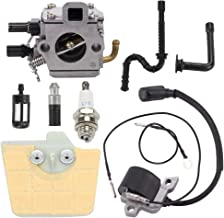Trustsheer MS340 MS360 Carburetor Carb for Stihl 034 036 MS350 360Pro Chainsaw Parts Zama C3A-S31A Tillotson 40-HE-20A Replace 1125-120-0651 +Tune Up Kit Air Filter Ignition Coil