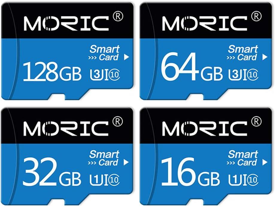 TFBTLZL Moric 128GB Class 10 Micro SD Flash Memory Card-100MB/s with Adapter - C10, U3, Full HD Memory Card (64G)