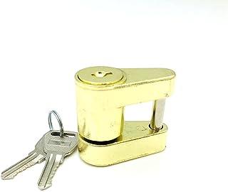 WINOMO Trailer Coupler Padlock Solid Brass Trailer Hitch Locks para protección antirrobo de seguridad