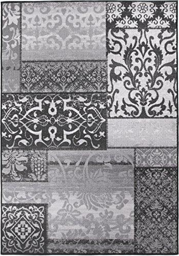 andiamo Designteppich Kurzflor Musterteppich, strapazierfähig, Ornament grau 160 x 230 cm Teppich