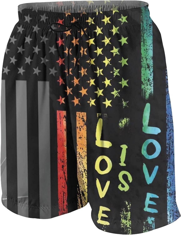 Teen Beach Pants Funny Boys Swim Trunks Novelty Swimwear Board Shorts Pockets Elastic Drawstring Quick Dry Beachwear