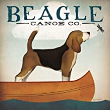 Beagle Canoe Co Ryan Fowler Vintage Advertisement Ads Animals Dogs Print Poster 12x12