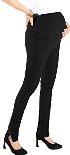 Maternity Work Office Dress Pants High Waist Skinny Leg Trousers for Women