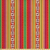 Lunarable Indianer-Stoff The Yard, südamerika buntes