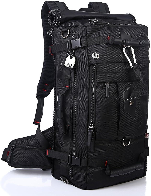 Wandern Rucksack 40L Reiserucksack Langlebig Wasserdicht für Outdoor Sport, 3 in 1 als Rucksack, Umhängetasche und Handtasche, Sporttasche für Laptop 17  Multi Taschen mit Schuhfach Diebstahlsicherung B07CXQ926J  Neuer Markt