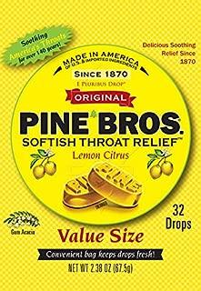 Pine Bros Throat Drops Bag, Lemon Citrus, 32 Count