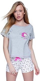 Made in EU S/& SENSIS Tuta//Pigiama Monopezzo//Homewear//Copricostume Donna in Cotone