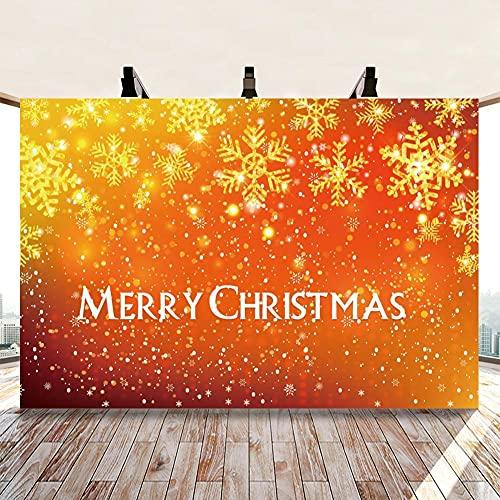Navidad Dorado Copo de Nieve Brillo Lunares luz Bokeh fotografía Fondo Personalizar Fiesta telón de Fondo Estudio fotográfico-250x180CM