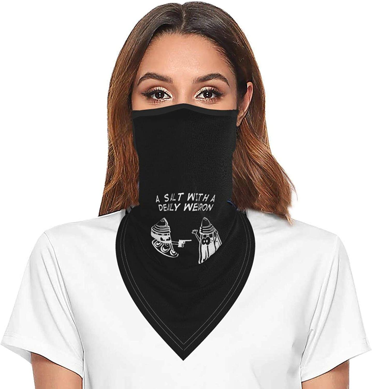 Salt Weapon Neck Gaiter Face Mask With Ear Loops Outdoor Breathable Scarf For Men Women