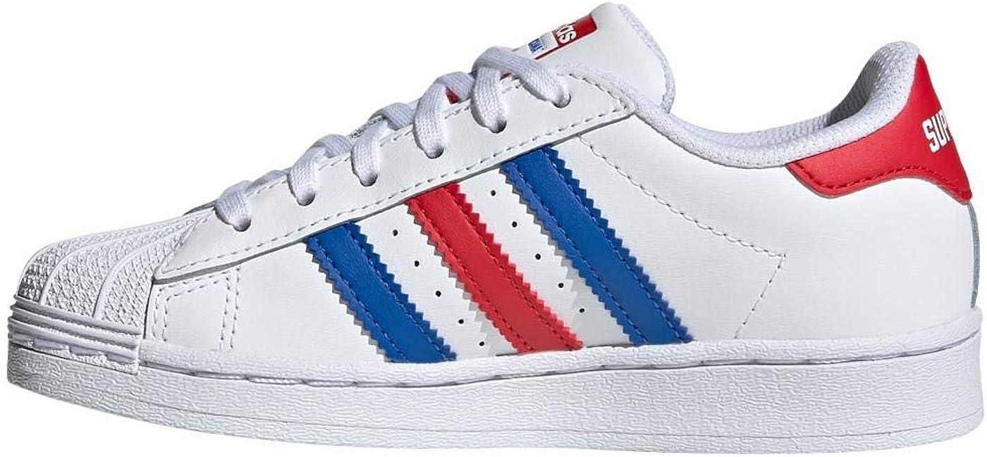 Adidas Superstar c Rouge Bleu garçon