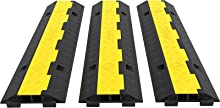 Axle Capacity Protective Wire Cord Ramp Driveway Rubber Traffic Speed Bumps Cable Protector.